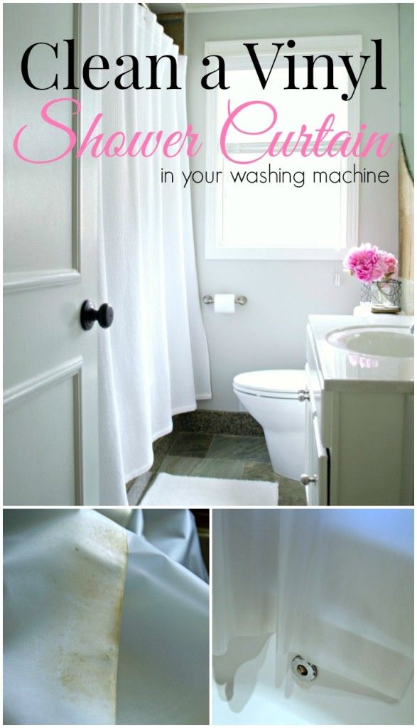 Tips on how to clean a vinyl shower curtain in your washing machine. So easy to do. www.chatfieldcourt.com