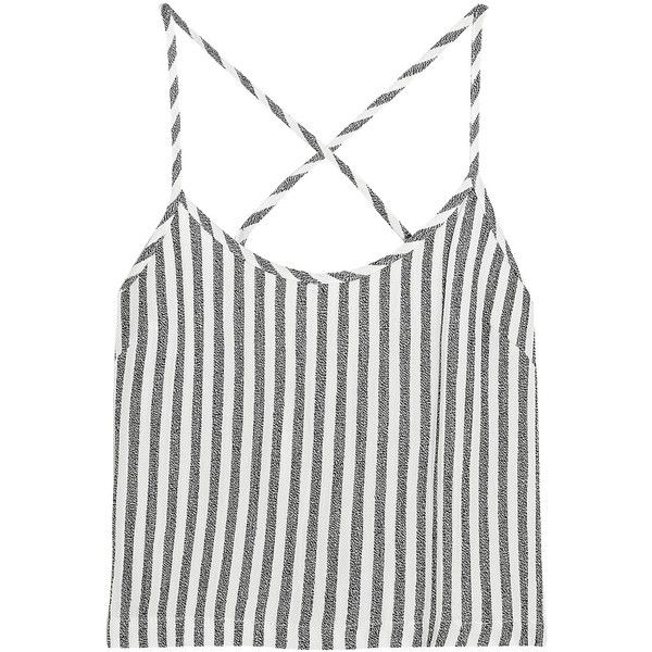 Kain Saffron striped twill camisole (€49) ❤ liked on Polyvore featuring ivory, white camisole, slimming camisole, kain, white cami and ivory camisole