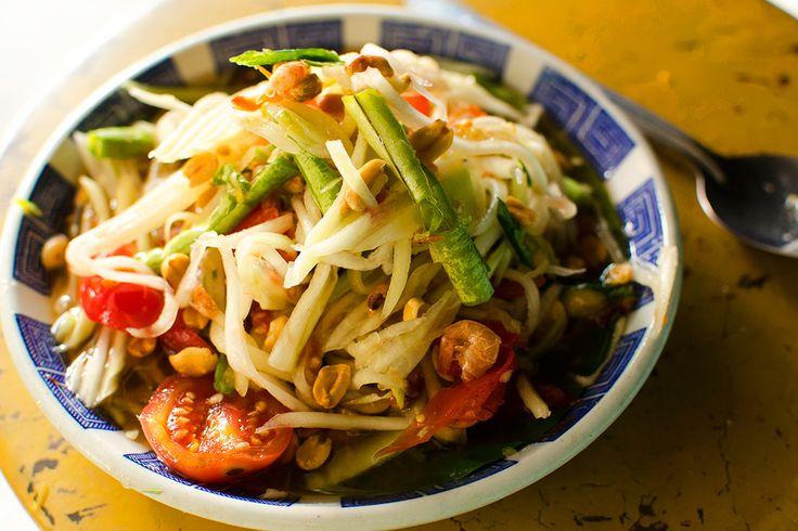 Luke Nguyen's green papaya salad