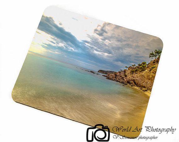 Romantic beach Greece photo Mousepadbeach by WorldArtPhotography