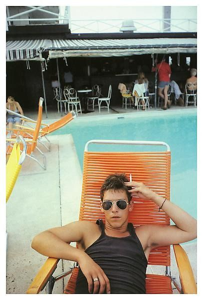 Nan Goldin David by the pool at The Back Room, Provincetown 1976