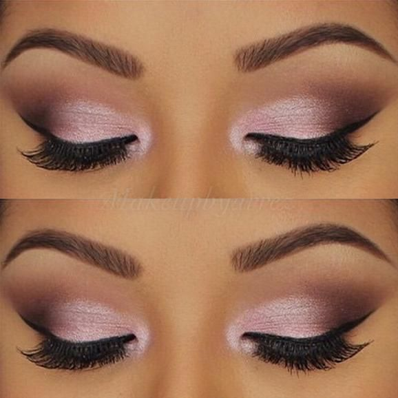 "romantic look by @makeupbyarrez using all @motivescosmetics eyeshadows. Heiress, pink diamond, vino, chocolight, cappuccino, and vanilla."""