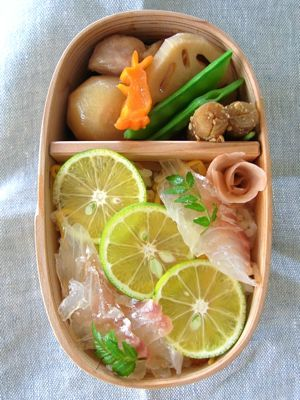Japanese Tai King Fish over Sushi Rice Bento Lunch|鯛ちらし弁当