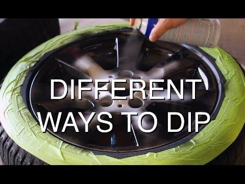 How to Plasti Dip Car Rims - Matte Black Wheels - YouTube