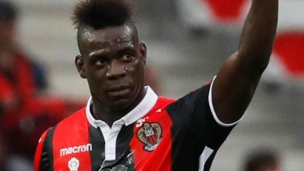 Mario Balotelli (right) has scored 17 goals in 21 starts for Nice in Ligue 1 Mario Balotelli scored twice as Nice thrashed Monaco, ending the Ligue 1 champions' 100% winning start to the season. The former Manchester City and Liverpool striker netted from the penalty spot after just six...