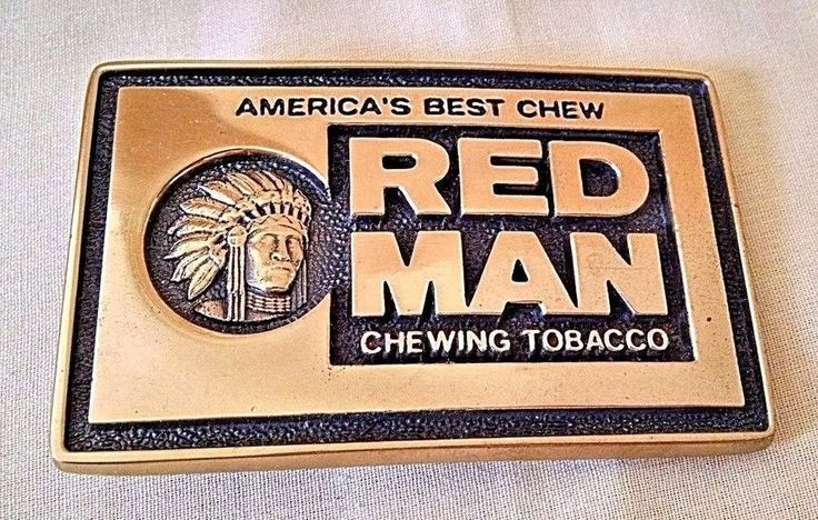 RED MAN CHEWING TOBACCO BELT BUCKLE SOLID BRASS BTS USA AMERICA'S BEST CHEW #BTS #Novelty