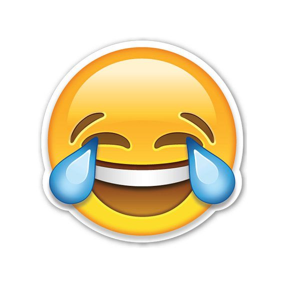 "Emoji Magnet Crying Laughing Face 2"" Tears of Joy. This would be an awesome gift."
