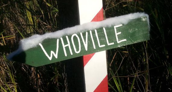 The Whoville Christmas Sign in green/white by YeeOldeSignShoppe