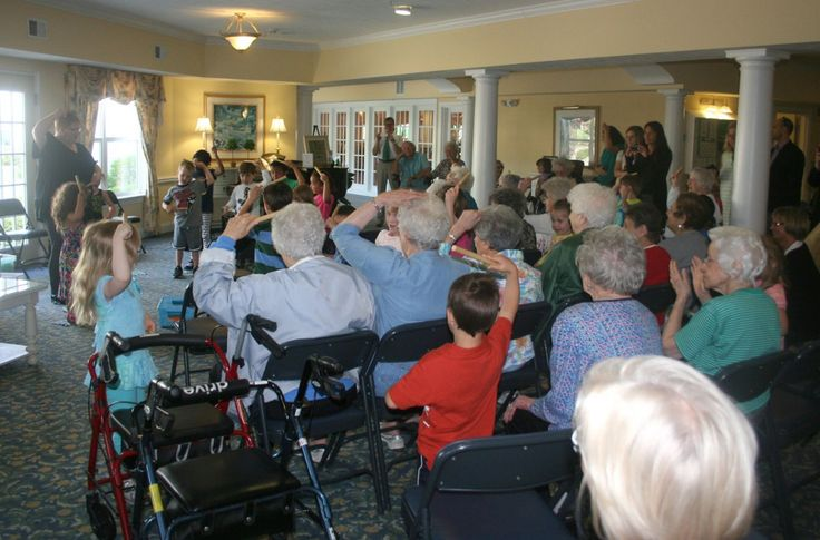 Three & Four year olds at The Harley School took a field trip to a senior living community, where they sang and danced with residents in a special concert performance. Part of a community service project, intergeneration activities such as these provide benefits to young people and seniors alike, and supports Harley's efforts to teach empathy to students.