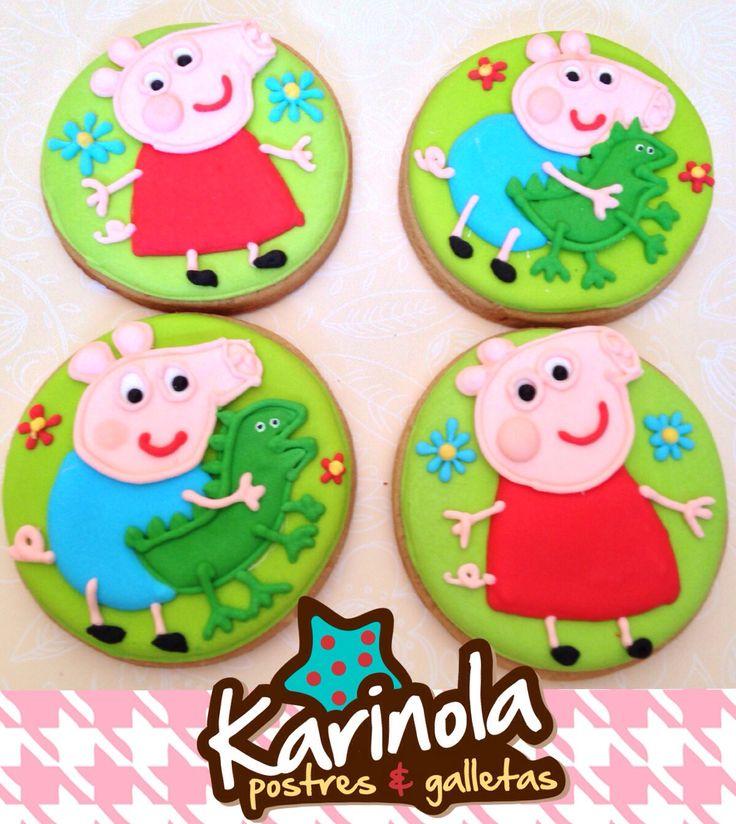 Peppa pig and George cookies bye Karinola