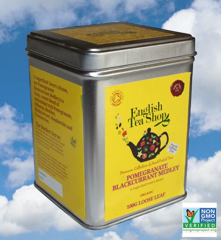 Our Pomegranate Blackcurrant Medley Loose Leaf tea is now NON-GMO verified!