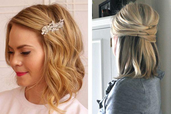 Peinado novia pelo suelto corto