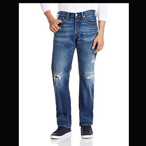 NEW Mens LEVIS 501 '00501-2267 Rip/Repair' TAPER STRAIGHT LEG JEANS size W28 L34 ebay