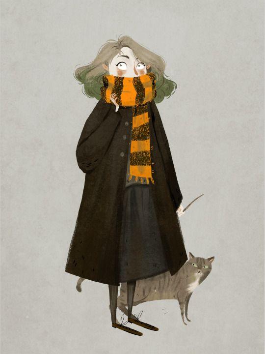 Hermione illustration by Taryn Knight