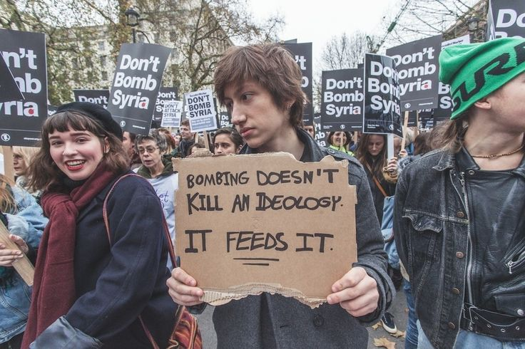 A sensible comment on bombing Syria