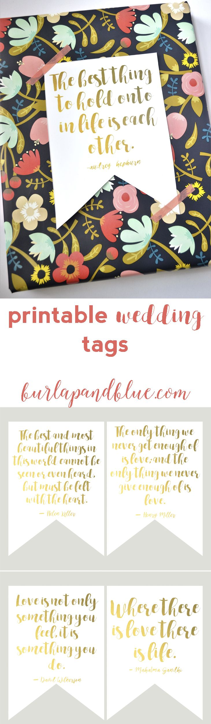 Best 25 free printable wedding ideas on pinterest printable free printable wedding tags six designs perfect for gift toppers or favor tags junglespirit Choice Image