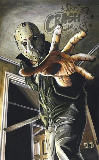 Jason Voorhees by Crash Cunningham  http://thegill-man.blogspot.com/2010/10/art-of-crash-cunningham.html