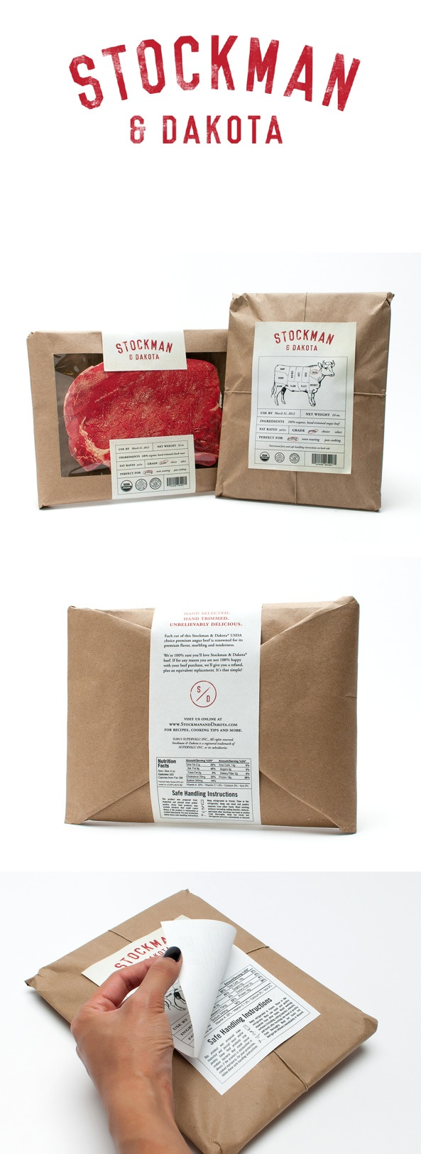 Stockman  Dakota Beef gives you a window into the food in a unique and unexpected way. #RetailPackaging
