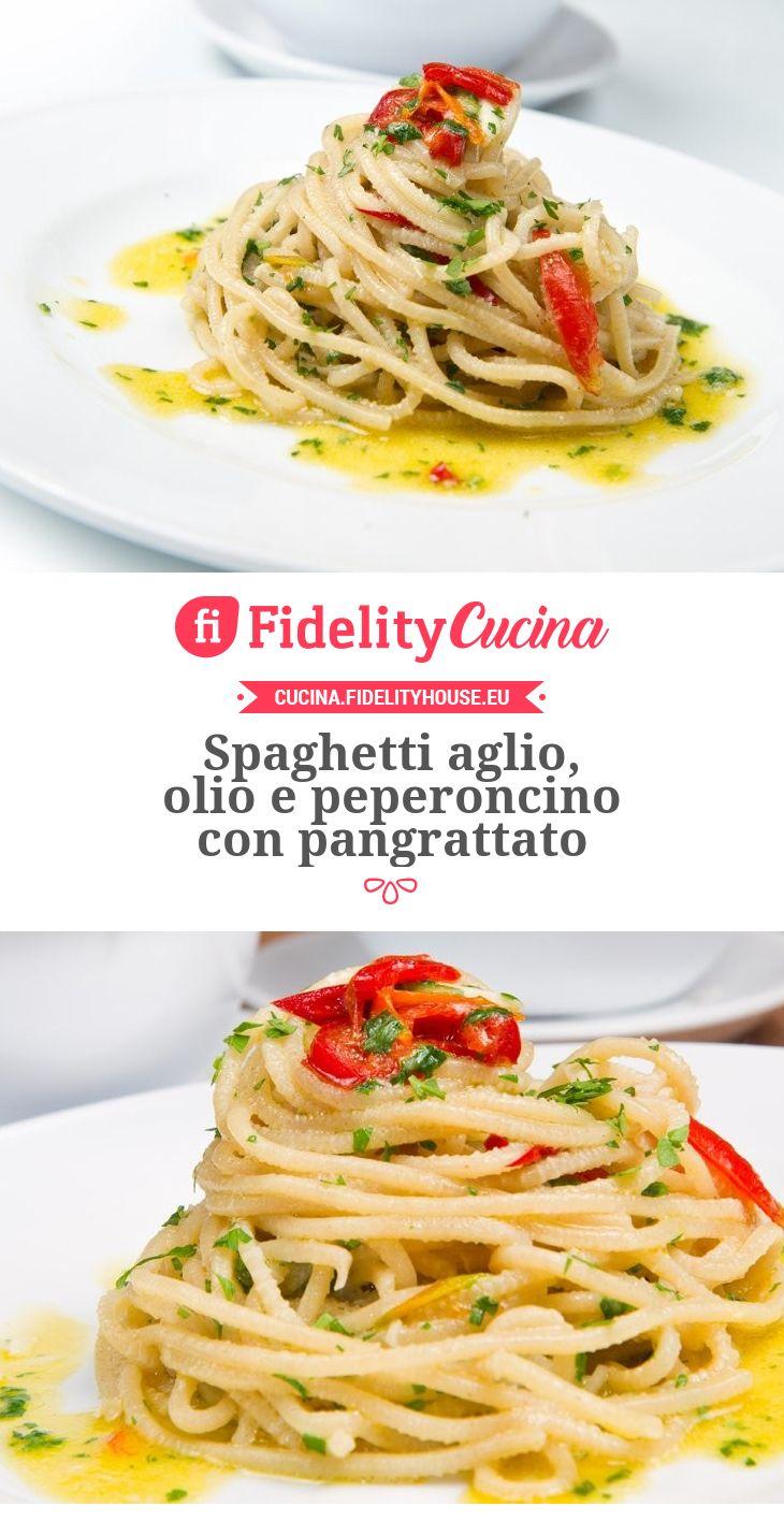 Spaghetti aglio, olio e peperoncino con pangrattato