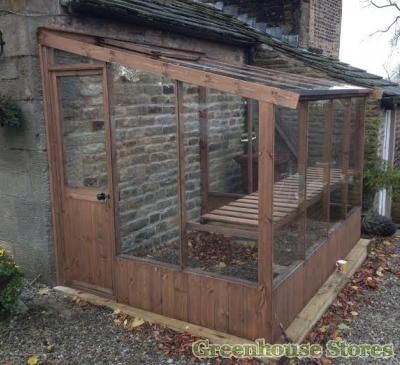 Cotswold 6x10 Lean to Wooden Greenhouse