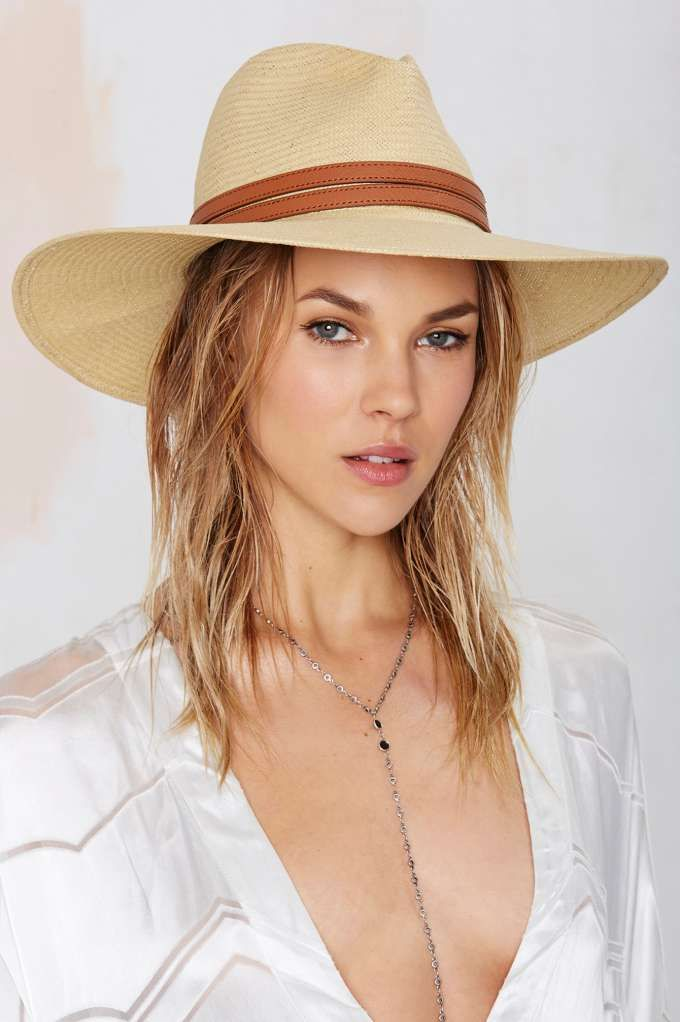Summer sun buster, in style there. I hate sunglass tan lines. .Edie Straw Panama Hat