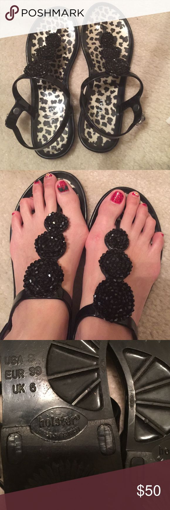 Adorable Jelly Animal Sandals Used but still in good condition. Adorable Jelly Animal Sandals. Size 8. Holster Shoes Sandals