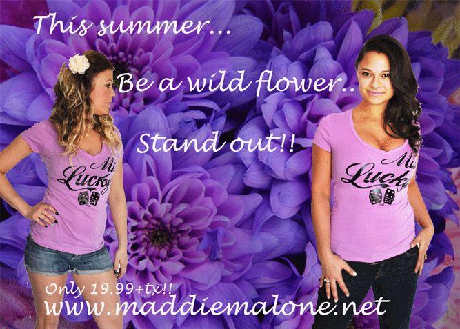 T-shirt #modefemme #Luck7  http://maddiemalone.net/boutique/t-shirt-mauve-lilac-fonce-lucky7-femme