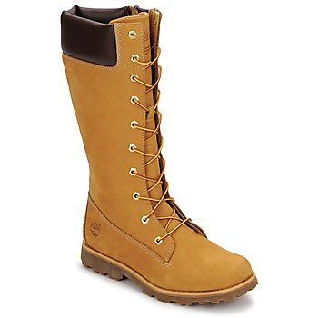 Botas Timberland GIRLS CLASSIC TALL LACE UP WITH SIDE ZIP Conhaque 350x350