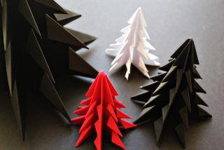 Como fazer uma árvore de Natal em Origami - Passo a Passo com video - Brinquedos de Papel