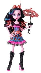 Monster High Dolls: Freaky Fusion Dracubecca Doll Dracubecca is a fusion of Draculaura and Robecca Steam. A polite steampunk vampire girl– an awesome combination. Dracubecca has Draculaura's fangs and Robecca's gear shaped irises.  http://awsomegadgetsandtoysforgirlsandboys.com/monster-high-dolls/ Monster High Dolls: Freaky Fusion Dracubecca Doll