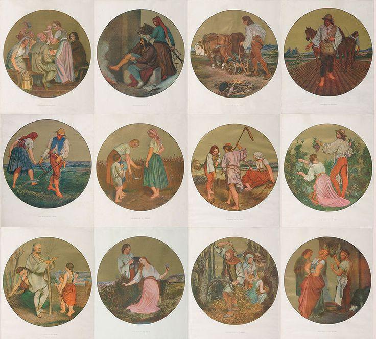 Mánes Josef | 12 měsíců | Aukce obrazů, starožitností | Aukční dům Sýpka