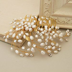 Spring Blossom Pearl Bridal Hair Comb