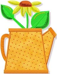 Sunflower Pot Applique - 2 Sizes! | Floral - Flowers | Machine Embroidery Designs | SWAKembroidery.com Abigail Michelle