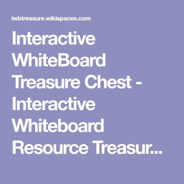 Interactive WhiteBoard Treasure Chest - Interactive Whiteboard Resource Treasure Chest