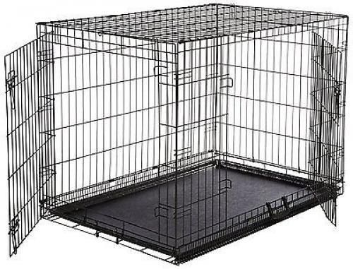 Xxl-Dog-Crate-Chain-Link-Dog-Kennel-Outdoor-Pet-Big-Dog-Cage-Extra-Large-Metal