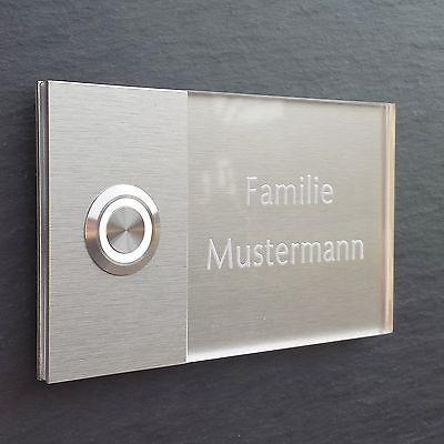 MODERNE Haustürklingel LED Klingelplatte Türklingel Klingel GRAVUR  72.001.F.015 in Heimwerker, Fenster, Türen & Treppen, Türklingelanlagen | …