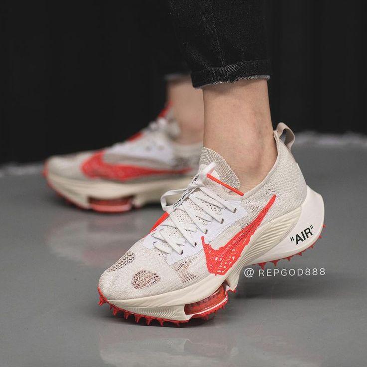 Off White Nike Zoom Tempo Sail Orange | SneakerNews.com | Nike ...