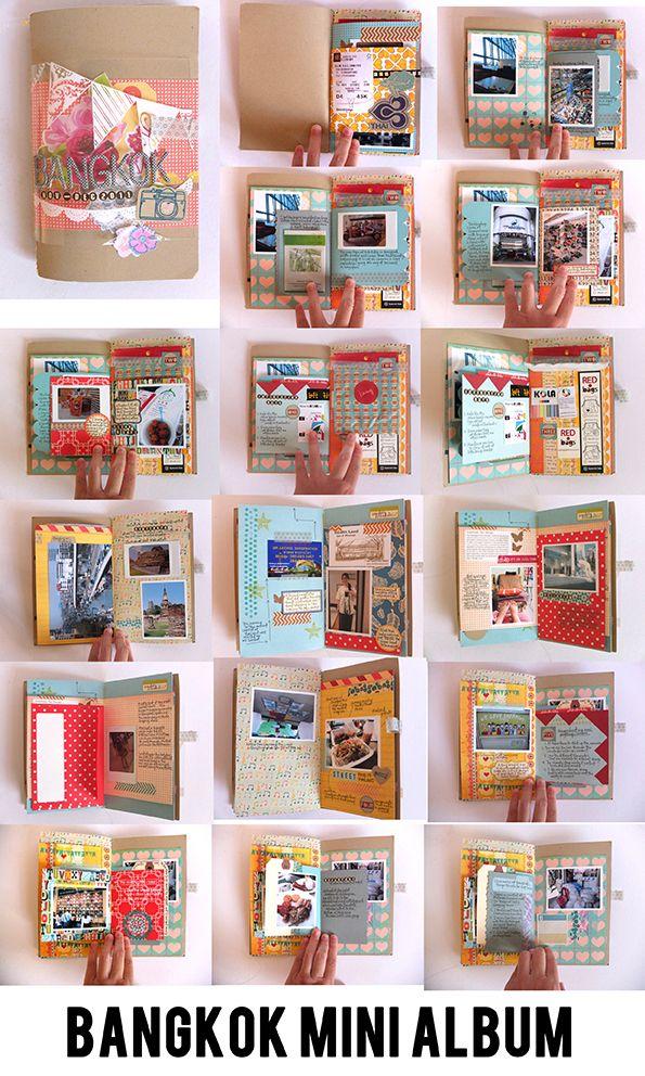 #papercraft #scrapbook #Travel #minialbum - check out studiocalico.com for more