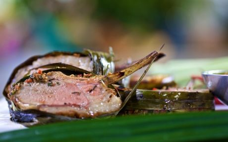 Lamb Cutlets in Pandan Leaves Recipe by Reza Mahammad - Easy with amazing flavours