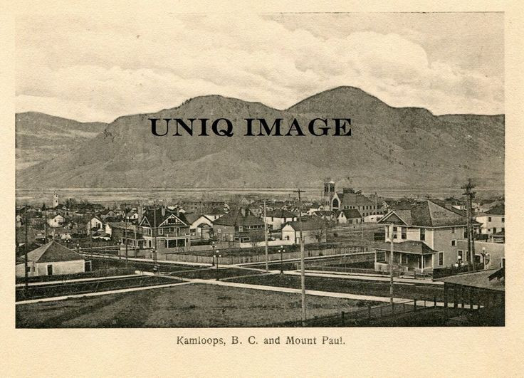 Antique c 1900 print kamloops bc canada orig unpublished custom made in art art from dealers resellers prints