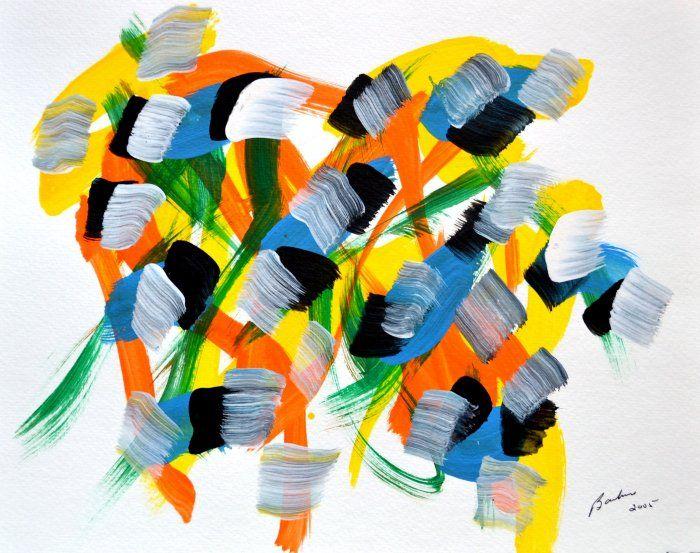 Marcel Barbeau, Sans titre 5, 2005, acrylique sur papier