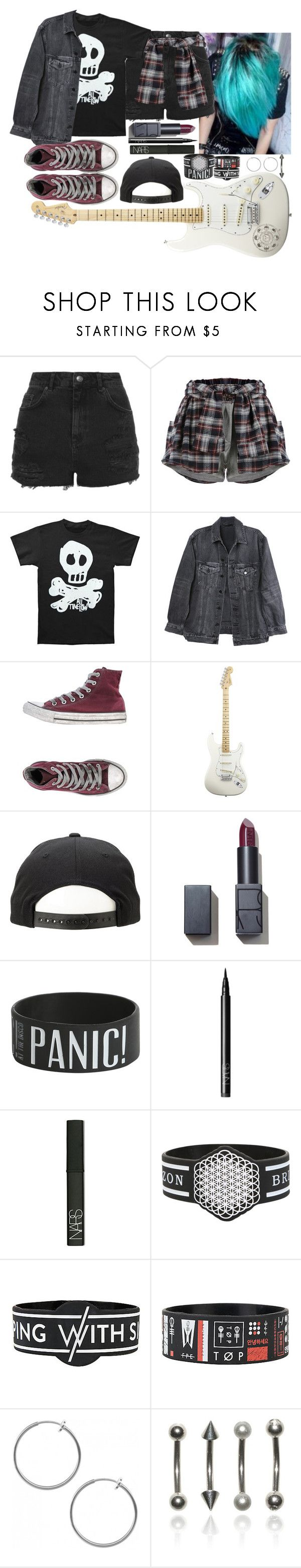 """[Concert in Germany w/ the girls]"" by purplemonkeys005 on Polyvore featuring Anastasia Beverly Hills, Topshop, Y/Project, Converse, American Standard, NARS Cosmetics and mandy"
