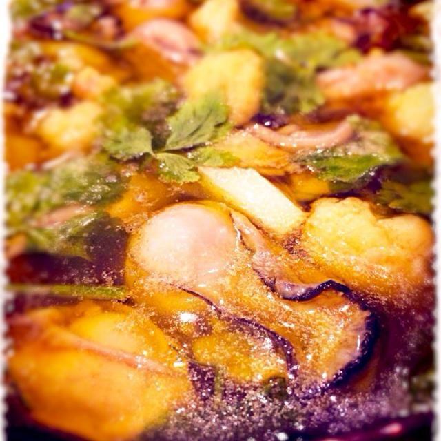 通常のアヒージョとは少し作り方が違いますが、我ながら美味かったあー 残ったオイルは勿論‼︎パスタ決定だねぇー - 271件のもぐもぐ - 私的な牡蠣のアヒージョ by mizunoa