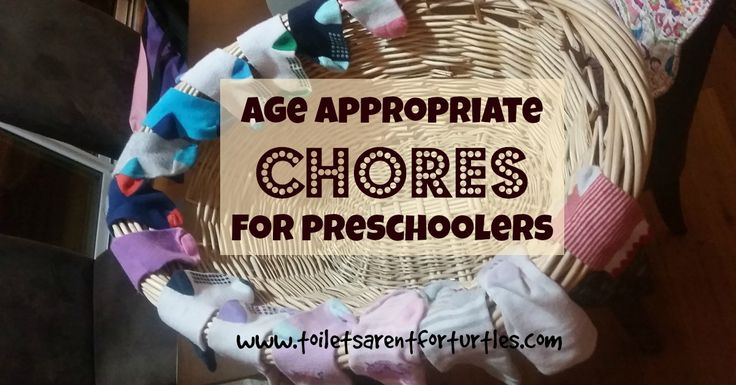 Start 'em early I say - a list of age appropriate chores for preschoolers.