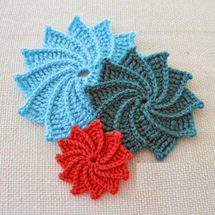 Spiral Crochet Flower Pattern Free : 25+ Best Ideas about Spiral Crochet Pattern on Pinterest ...