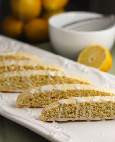 Lemon Biscotti - So easy to make and healthy, low fat too!