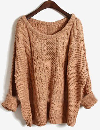 Pink Batwing Long Sleeve Pullovers Sweater