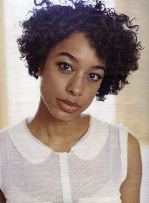 Corinne Bailey Rae, pretty sure she did this with flexi rods, very cute