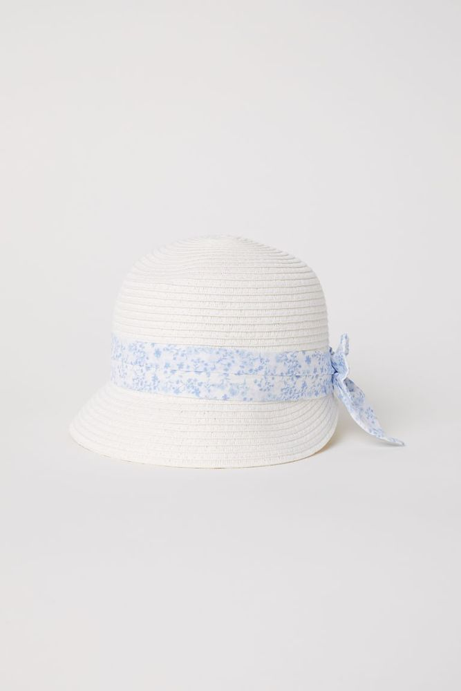 Baby Girls Sun Hat White Blue from H M  fashion  clothing  shoes   accessories  babytoddlerclothing  babyaccessories (ebay link) d5b3a39510d