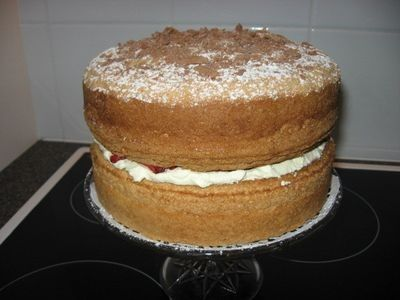 Custard Sponge - A very light and fluffy cake that melts in your mouth.